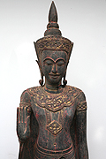 013 Adorned Standing Buddha - Wood - H. 1m70, W.46kg - USD2300
