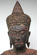 014 Adorned Standing Buddha - Wood - H. 1m72, W. 46kg - USD2600-