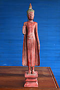 65. Buddha standing - Post Angkorian Style - Wood - Height: 90 cm - USD490 -