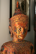 51.Adorned Standing Buddha - Post Angkorian Style - Wood - H:2m, W:53cm, W.kg  - USD8700 -